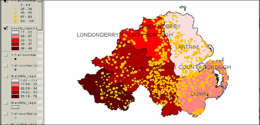 Orange Lodge Maps Continued Eric Kaufmann - Population density of ireland map